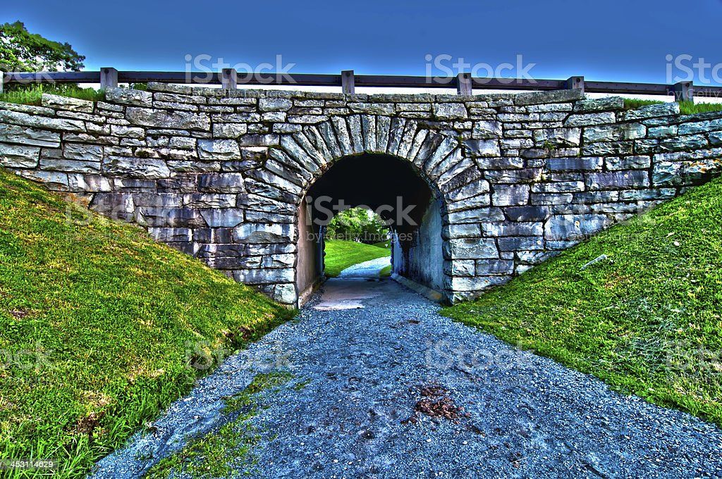 old bridge tunnel royalty-free stock photo