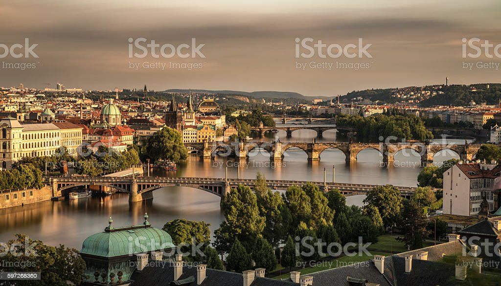 Old bridges of Prague royalty-free stock photo