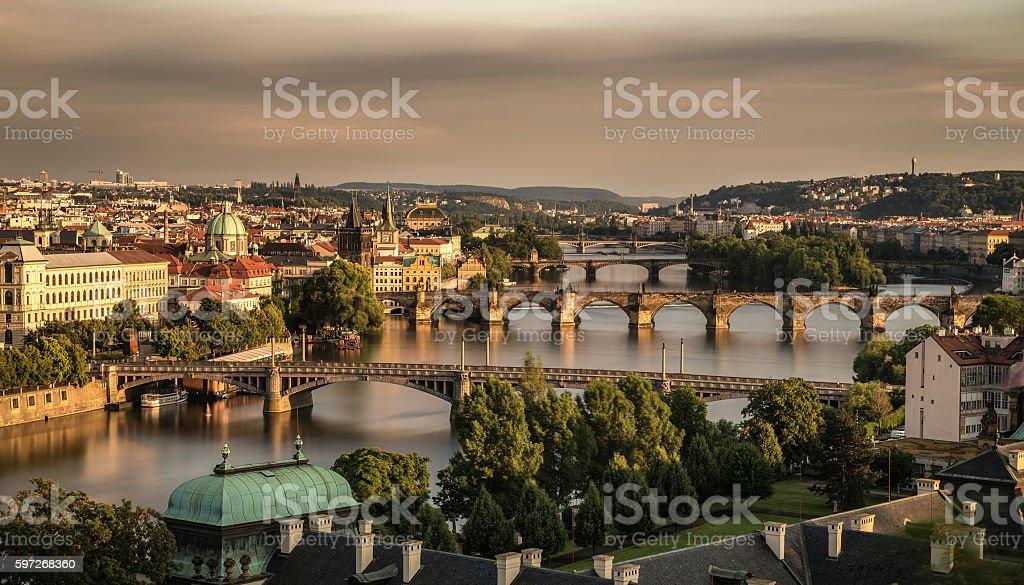 Old die Brücken von Prag Lizenzfreies stock-foto