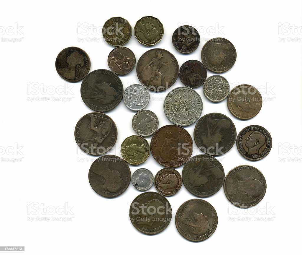 Old British Coins Stock Photo & More Pictures of Art - iStock