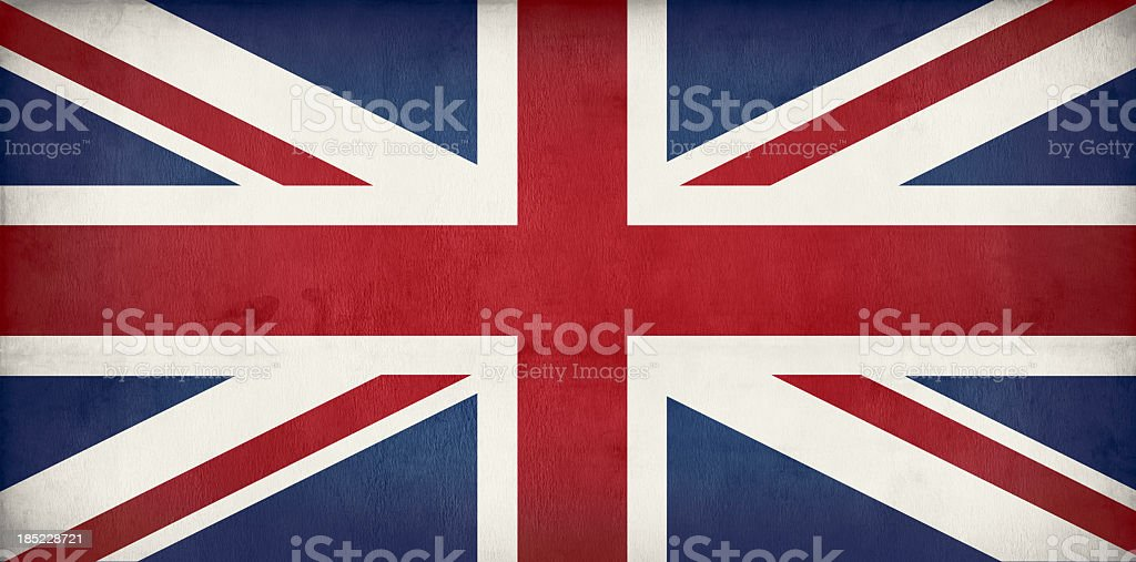 old British flag - Union jack stock photo