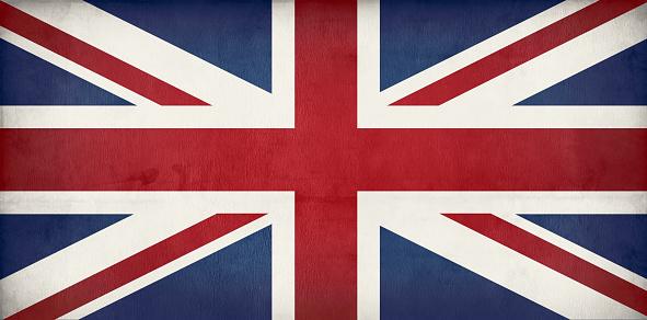 Old British Flag Union Jack Stock Photo - Download Image Now