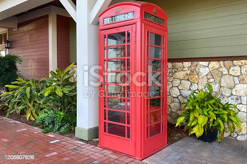 an old style british generic phone booth call box