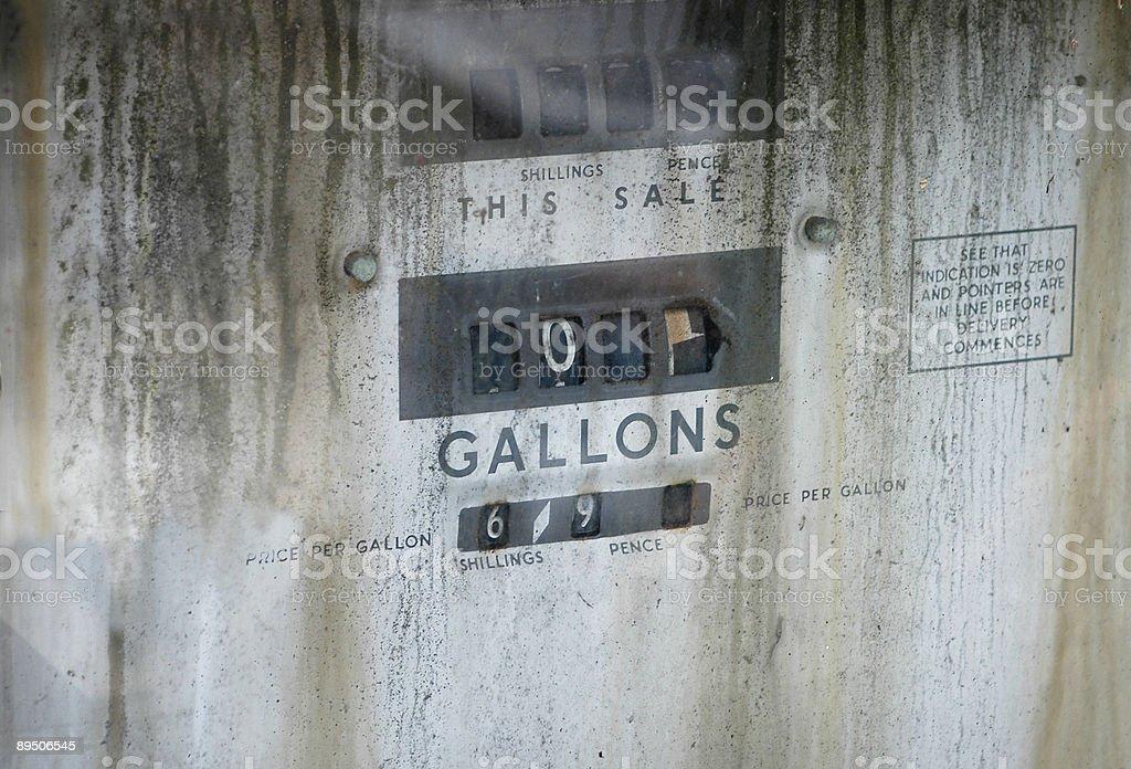 Old British Petrol Pump royalty-free stock photo