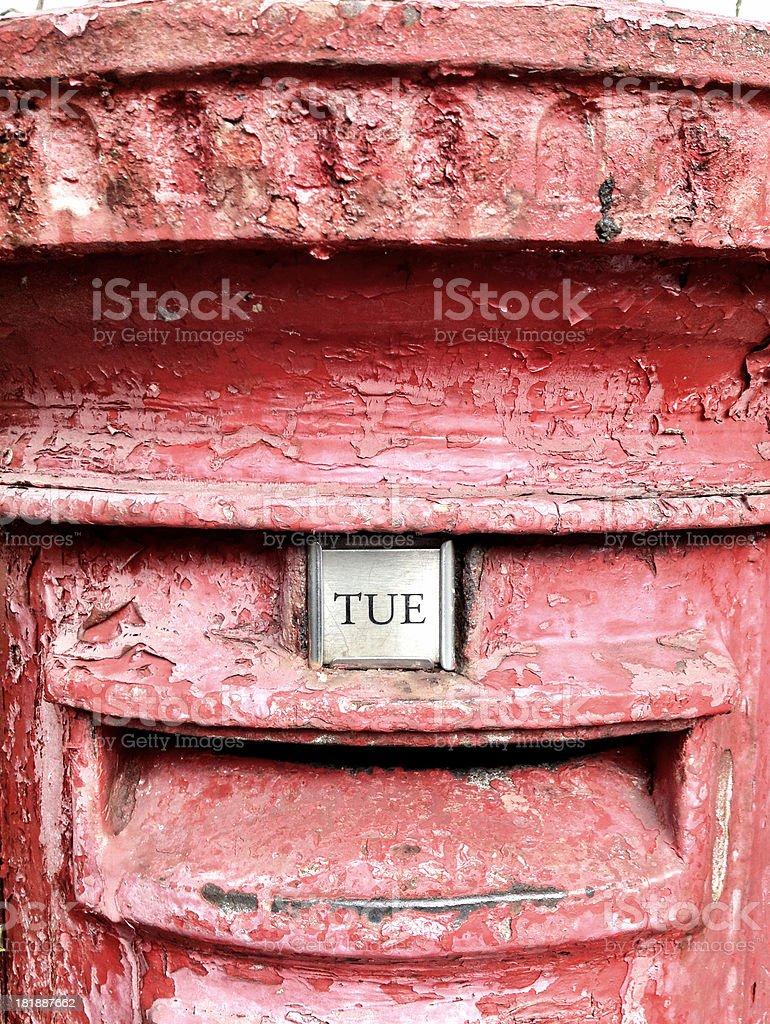 Old british post box royalty-free stock photo