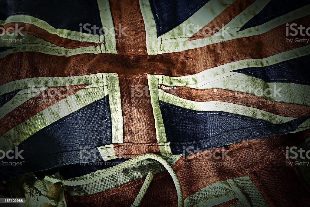 Old British union jack flags stock photo