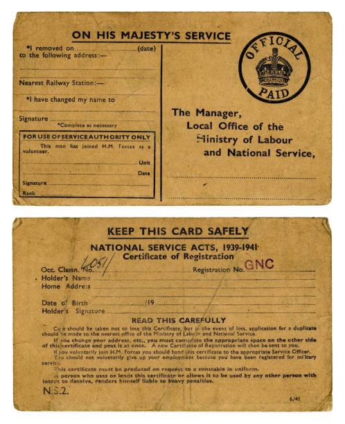 Old British abris anti-Service National de la carte de - Photo
