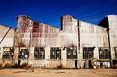 Old brocken neglected industrial building
