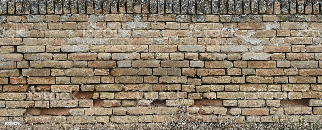 Old broken brick wall royalty-free stock photo