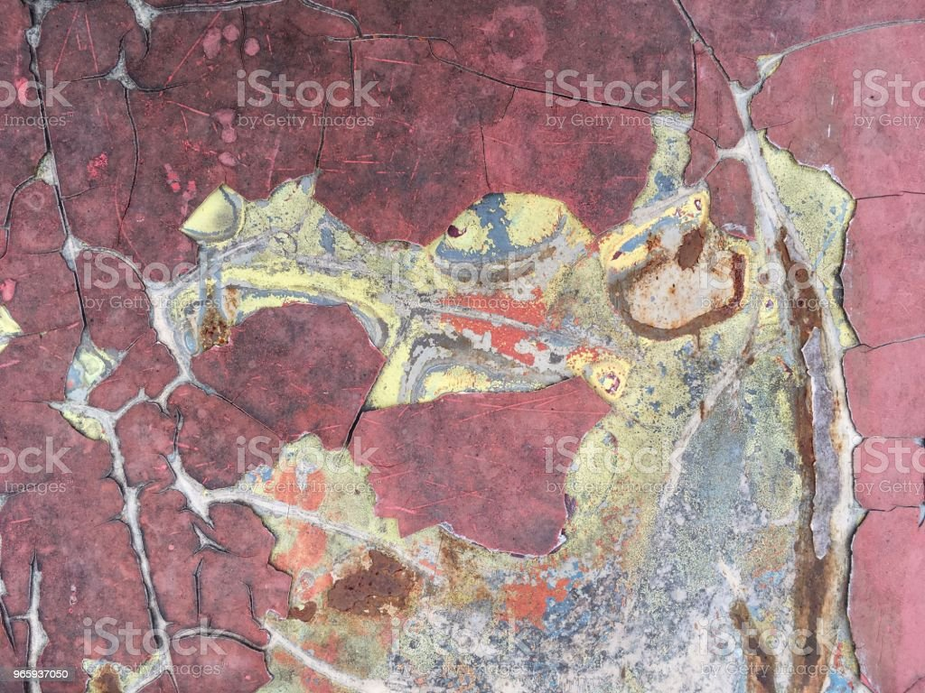 oude gebroken auto muur textuur - Royalty-free Abstract Stockfoto