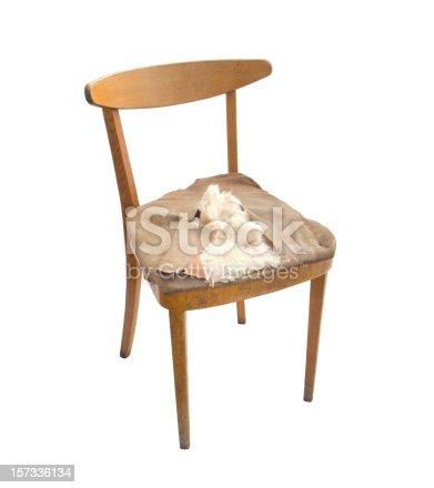 old broken chair
