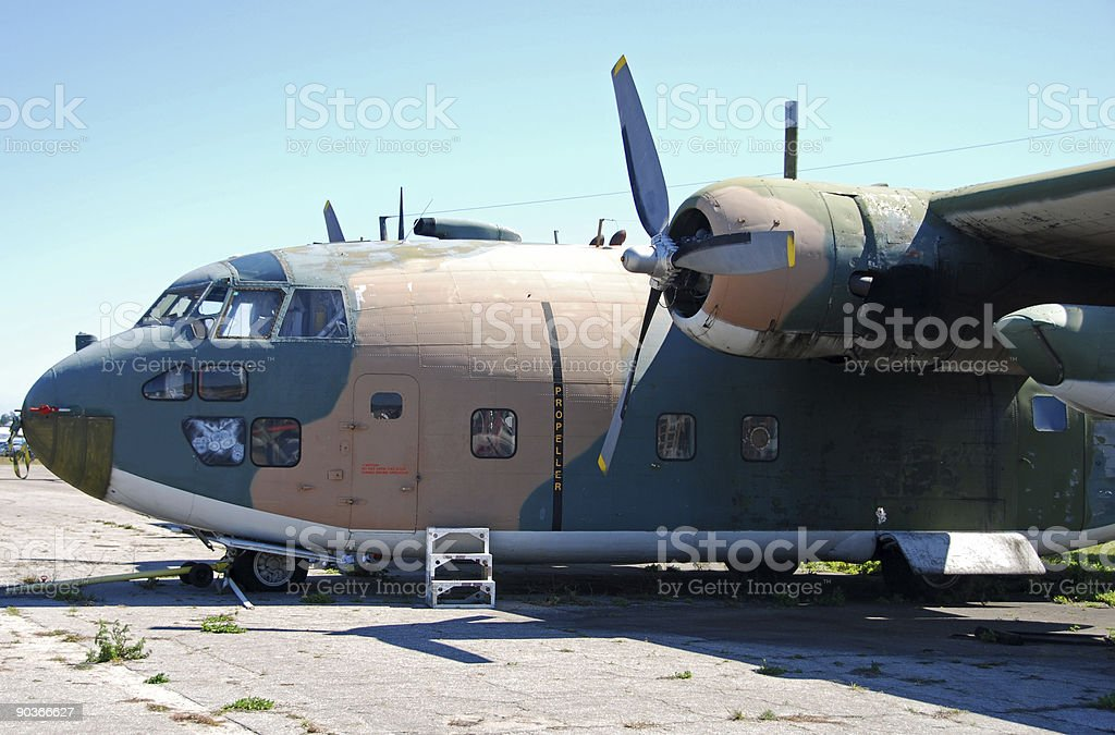 Old broken down airplane royalty-free stock photo