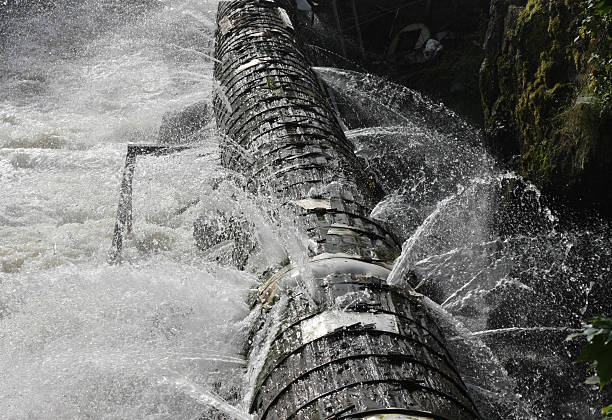 Old broken pipeline bildbanksfoto