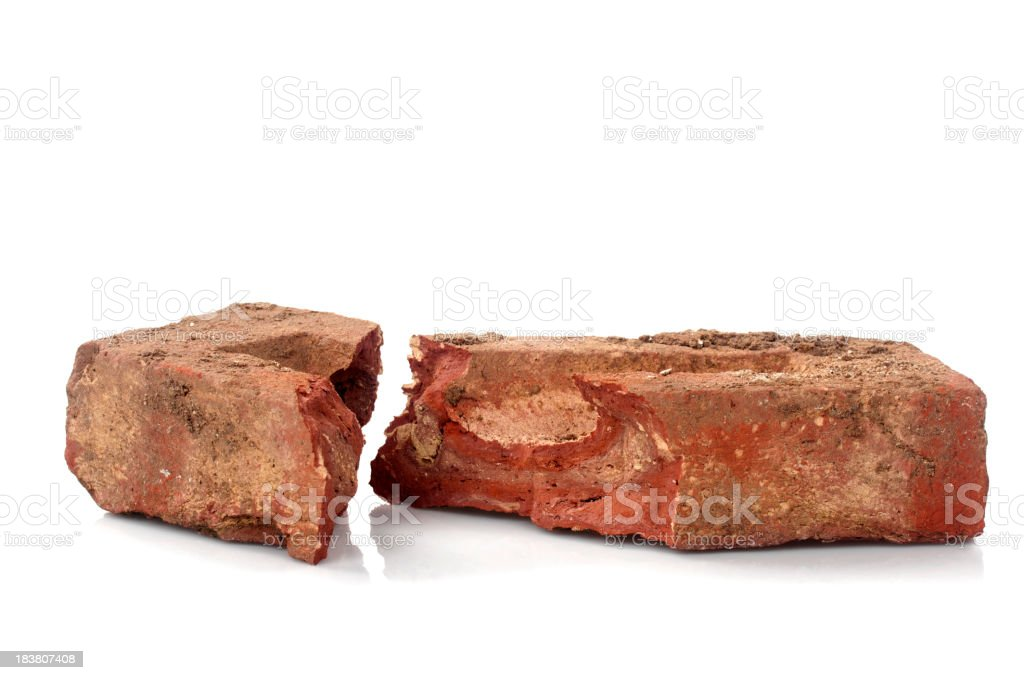 Old Broken Red Brick stock photo