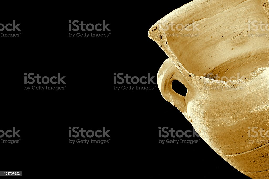 Old broken vase royalty-free stock photo