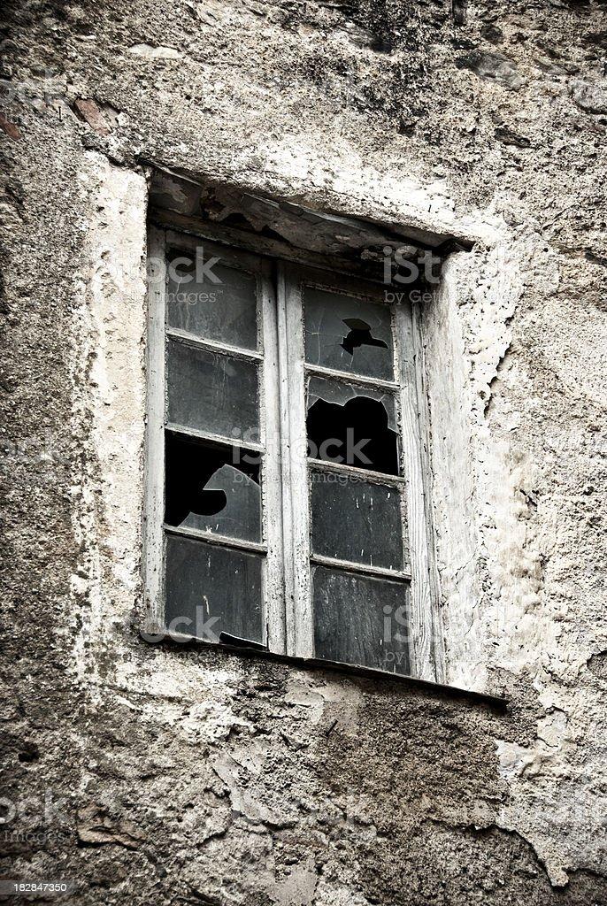 old broken window royalty-free stock photo