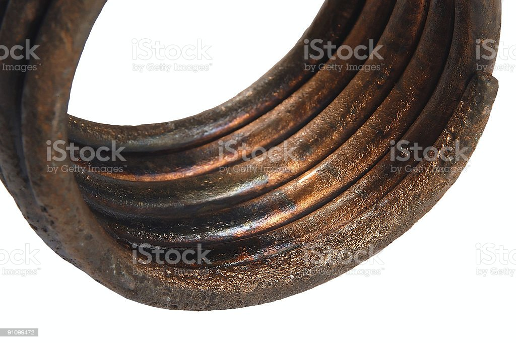 Old bronze armlet royalty-free stock photo