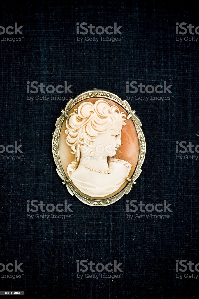 Old brooch royalty-free stock photo