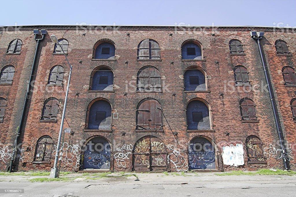 Old brooklyn warehouse stock photo