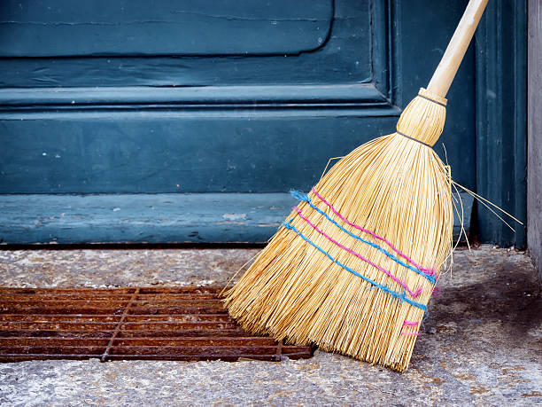 old broom - sweeping stock pictures, royalty-free photos & images