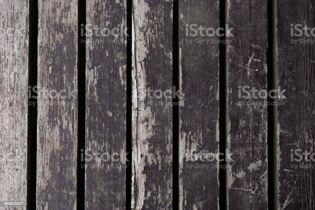Old brown and black wooden boards, background texture stock photo