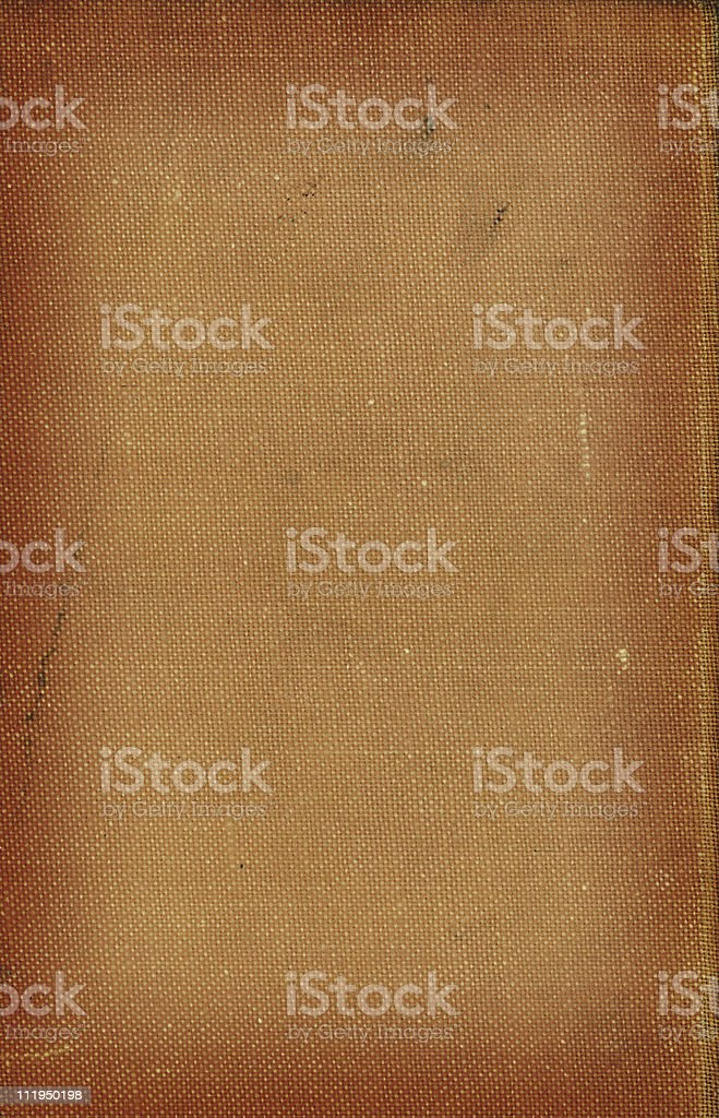 Old brown book cover stock photo