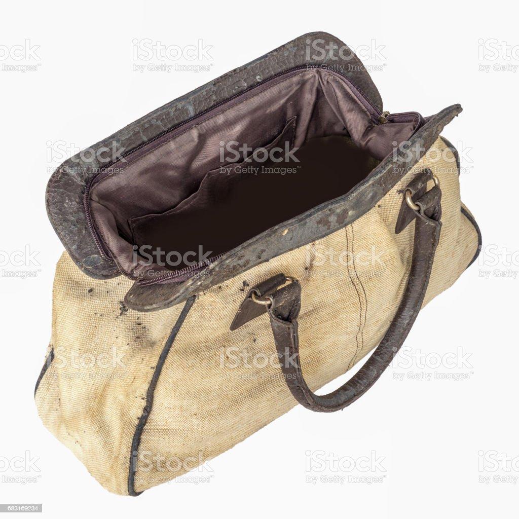 舊的棕色手提包 免版稅 stock photo