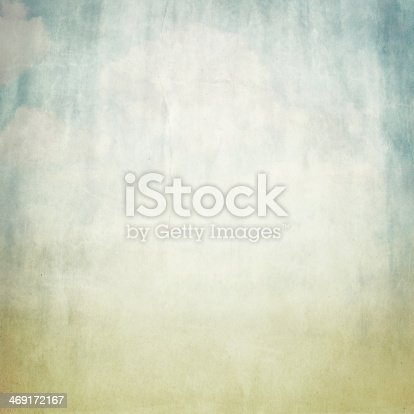 istock old brown paper background texture and blue sky view 469172167