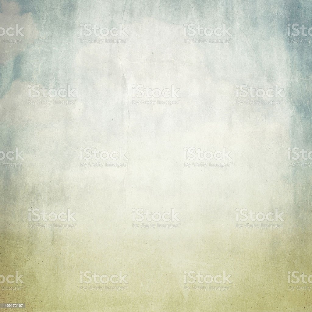 old brown paper background texture and blue sky view stock photo