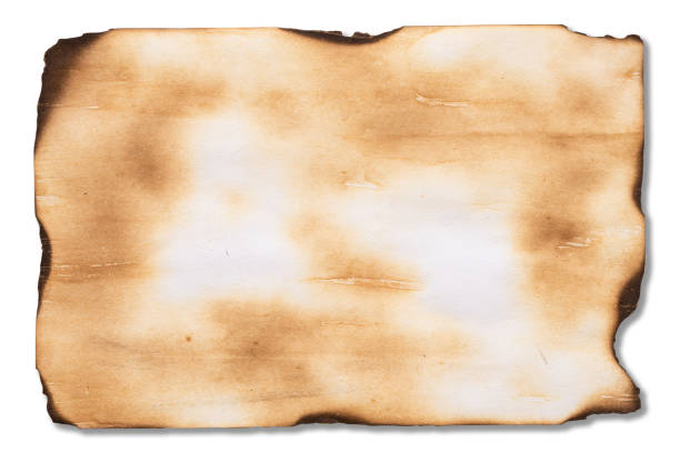 Alte braune Vintage Papierstruktur isoliert auf weißem Hintergrund. – Foto