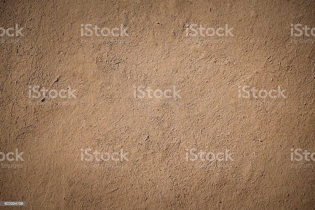 old brown stucco clay wall - foto de stock