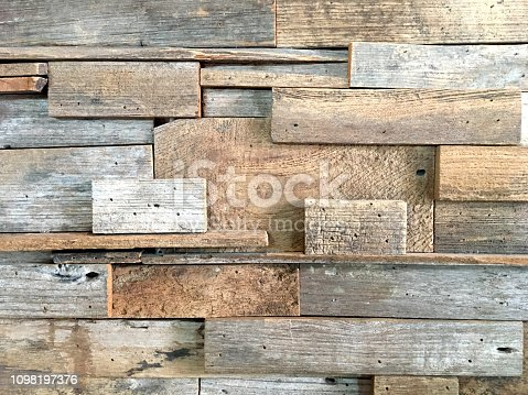 905087856istockphoto Old brown wood texture on the wall background 1098197376