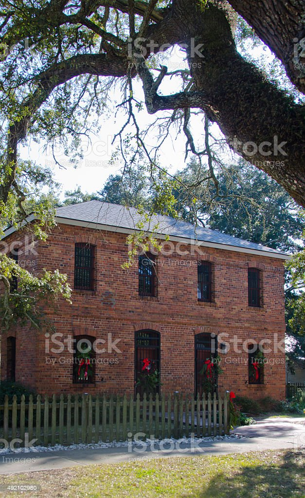 Old Brunswick County Jail stock photo