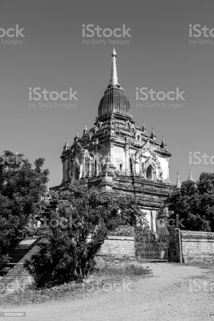 Old Buddhist temple and Pagoda in Bagan, Myanmar stock photo