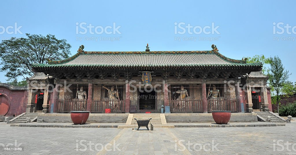 Old buddhist temple in China stock photo
