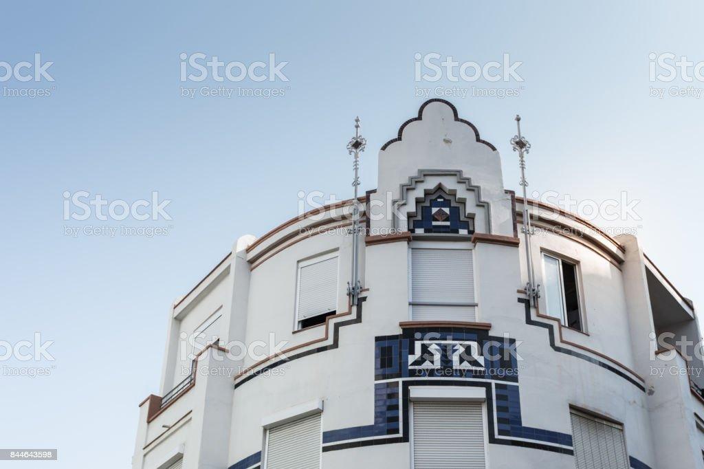 Old building at old town Málaga. stock photo