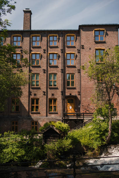 Old building at Sagene stock photo
