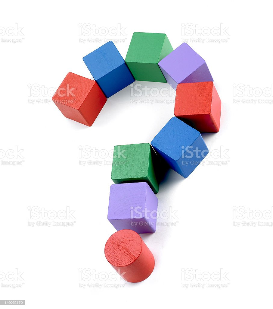 Old Building block question mark royalty-free stock photo