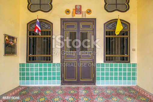 istock PHUKET, THAILAND - SEPTEMBER 28, 2014 : Old building Chinese and Sino Portuguese style in Phuket on September 18, 2014 in Phuket, Thailand. Old building is a very famous tourist destination of Phuket. 653319046