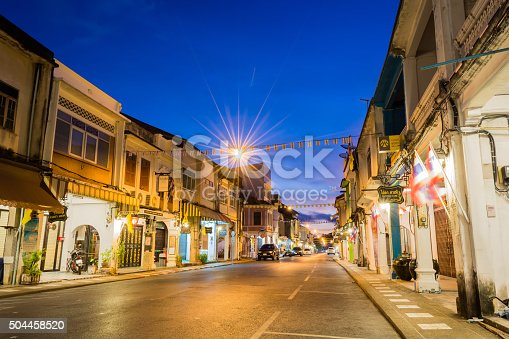 istock Old building Chino Portuguese style in Phuket 504458520
