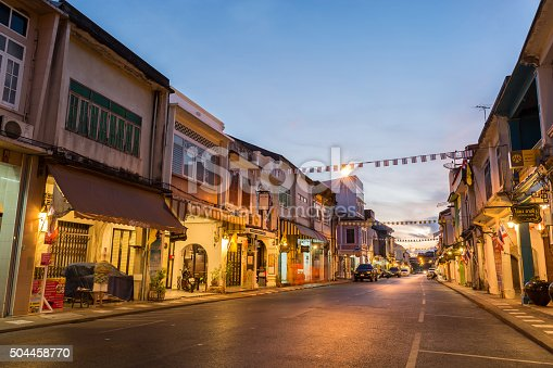 istock Old building Chino Portuguese style in Phuket 504458770