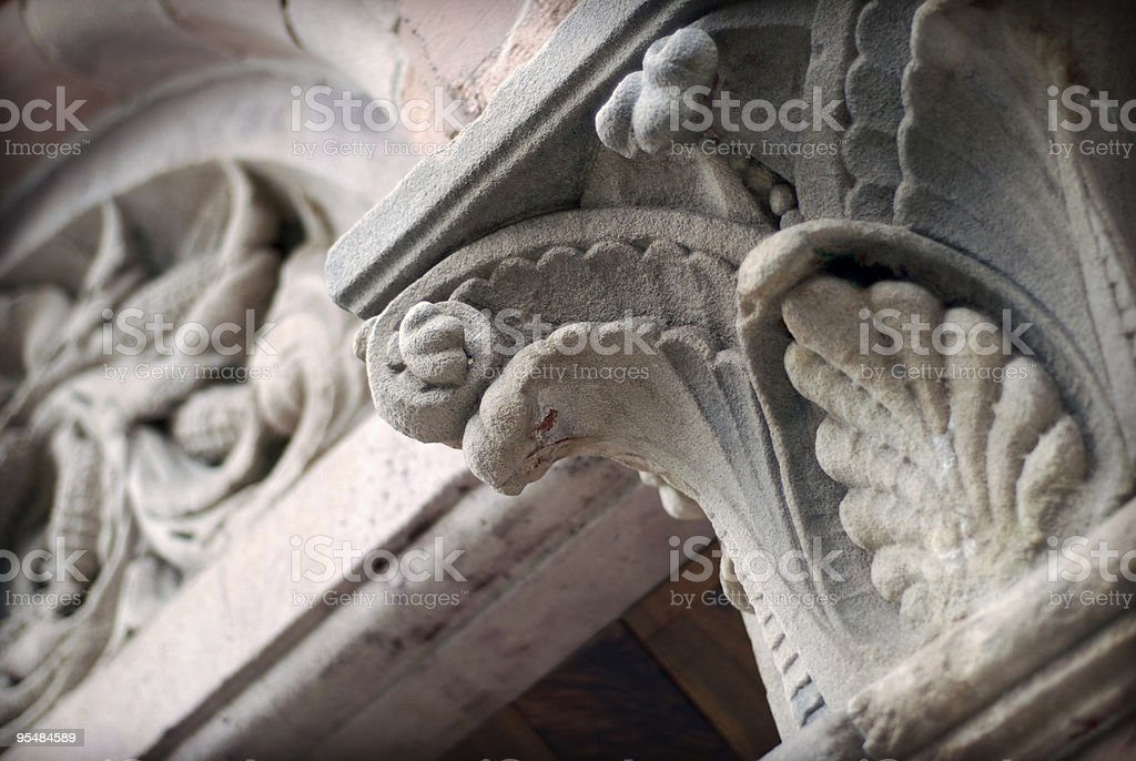 Old building column royalty-free stock photo