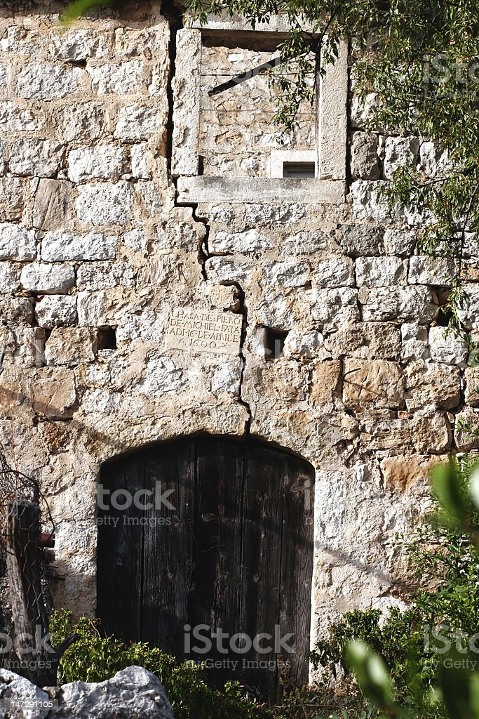 old building - door and window royalty-free stock photo