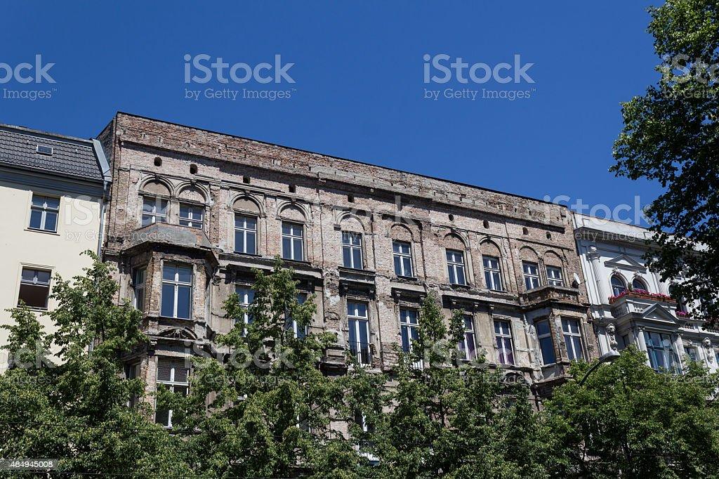 old building facade, berlin stock photo