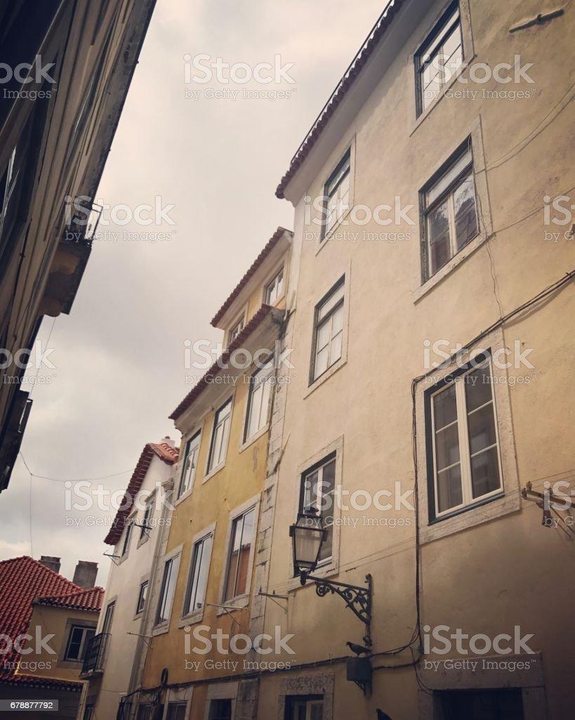 Lizbon, Portekiz eski bina cephe royalty-free stock photo