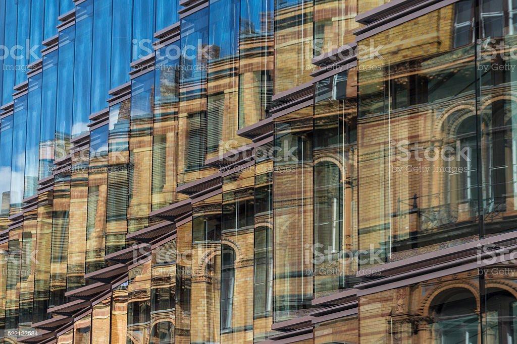 old building facade, new building exterior stock photo