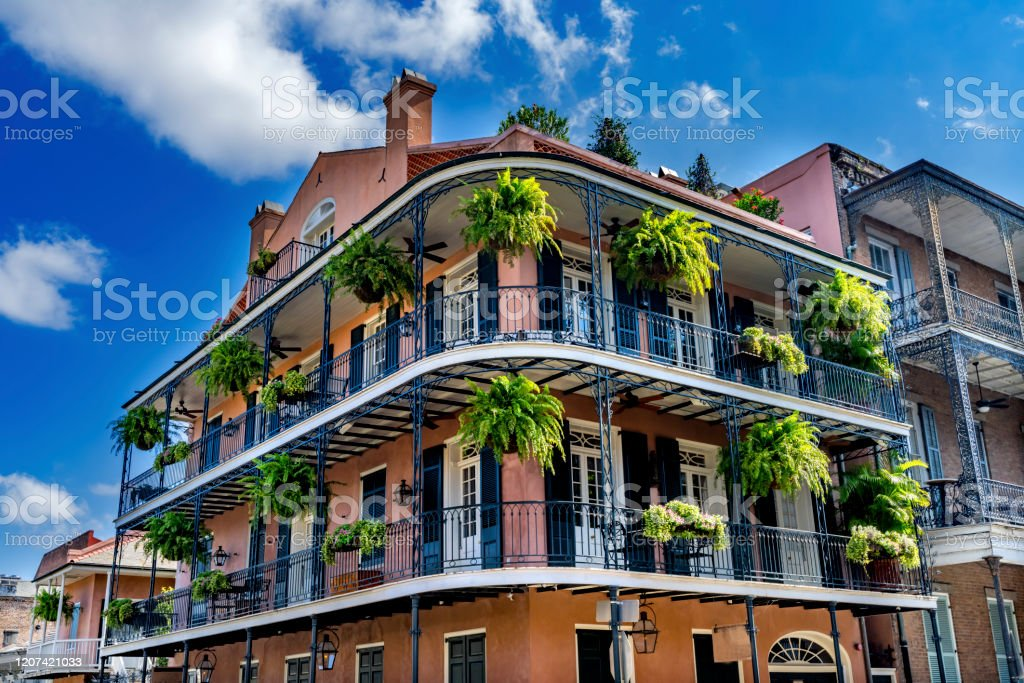 Old Building French Quarter Dumaine Street New Orleans Louisiana - Royalty-free Architecture Stock Photo