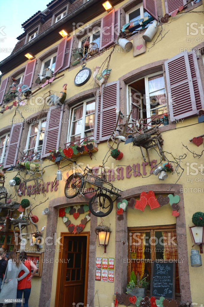 Old Building in Colmar, Alsace, France stock photo