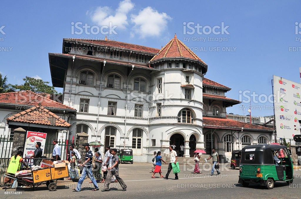 Old building in Galle fort, Sri Lanka stock photo