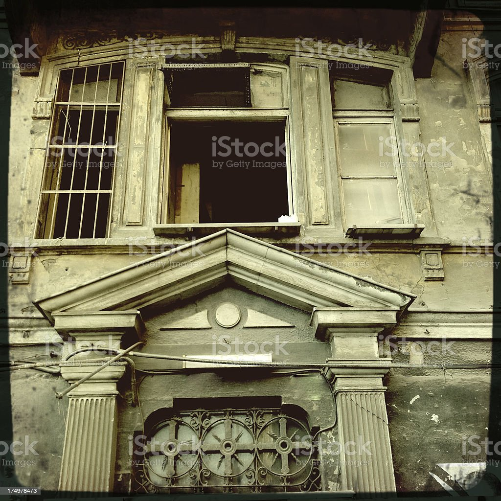 old building in istanbul stock photo